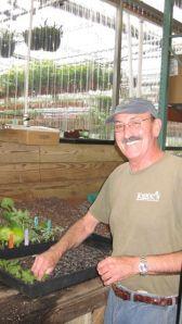Roger propagates our geraniums