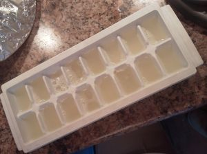 3Lemon juice ice cubes